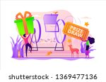prize draw  online random draw  ... | Shutterstock .eps vector #1369477136
