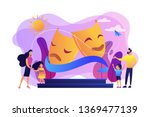 kids with tutors enjoy acting... | Shutterstock .eps vector #1369477139