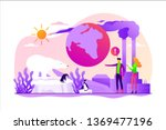 global warming  environment... | Shutterstock .eps vector #1369477196