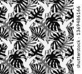 vector tropical leaves seamless ... | Shutterstock .eps vector #1369486166