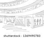 shopping mall graphic black... | Shutterstock .eps vector #1369490783