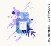 perfume bottle with geometric...   Shutterstock .eps vector #1369492076