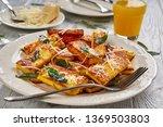 cheesy polenta squares ...   Shutterstock . vector #1369503803