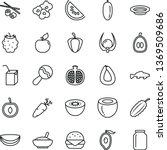 thin line vector icon set  ... | Shutterstock .eps vector #1369509686