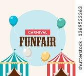fun fair banner design... | Shutterstock .eps vector #1369523363