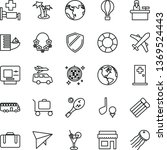 thin line vector icon set  ... | Shutterstock .eps vector #1369524443