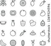 thin line vector icon set  ... | Shutterstock .eps vector #1369524596