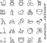 thin line vector icon set  ... | Shutterstock .eps vector #1369524629