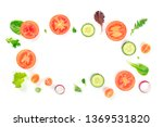 fresh vegetable salad... | Shutterstock . vector #1369531820