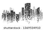 city skyline vector illustration | Shutterstock .eps vector #1369534910