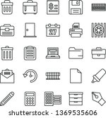 thin line vector icon set  ... | Shutterstock .eps vector #1369535606