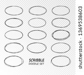 doodle sketched circles. hand... | Shutterstock .eps vector #1369538603
