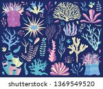 set of underwater ocean coral... | Shutterstock .eps vector #1369549520