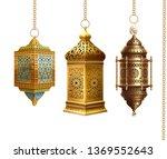 set of traditional arabian... | Shutterstock .eps vector #1369552643