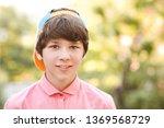 smiling teenage boy 13 14 year...   Shutterstock . vector #1369568729