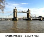 tower bridge over river thames  ... | Shutterstock . vector #13695703