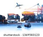 the double exposure image of... | Shutterstock . vector #1369583123
