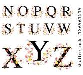 decorative alphabet 2   jpeg | Shutterstock . vector #136961519