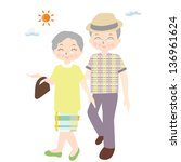 old couple   special day   Shutterstock . vector #136961624