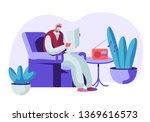 senior grey haired man in... | Shutterstock .eps vector #1369616573