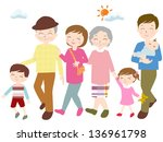 family holiday | Shutterstock . vector #136961798