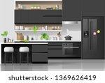 interior background with modern ...   Shutterstock .eps vector #1369626419