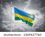 3d rendering of rwanda flag is... | Shutterstock . vector #1369627760
