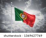 3d rendering of portugal flag... | Shutterstock . vector #1369627769