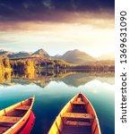 calm lake in national park high ... | Shutterstock . vector #1369631090
