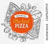 pizza illustration for...   Shutterstock .eps vector #1369633919