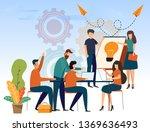 business people teamwork... | Shutterstock .eps vector #1369636493