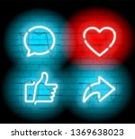 thumbs up and heart icon with...   Shutterstock .eps vector #1369638023