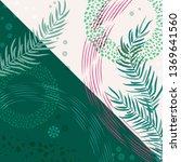 scarf floral pattern. bandana ... | Shutterstock .eps vector #1369641560