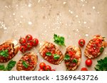 toasts with cherry tomatoes ...