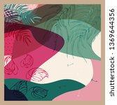 scarf floral pattern. bandana ... | Shutterstock .eps vector #1369644356