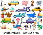 set of children toys... | Shutterstock .eps vector #1369655789