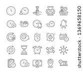 time line icons. set of... | Shutterstock .eps vector #1369658150