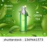 green tea skincare moisture... | Shutterstock .eps vector #1369661573