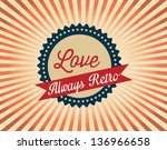 different retro icons on... | Shutterstock .eps vector #136966658