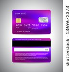 vector credit card. front and...   Shutterstock .eps vector #1369672373