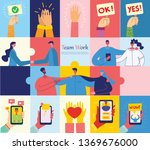 vector illustrations of the... | Shutterstock .eps vector #1369676000