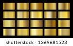 gold metallic  bronze  silver ... | Shutterstock .eps vector #1369681523