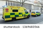 london ambulances in the... | Shutterstock . vector #1369683566