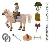 vector design of horseback and... | Shutterstock .eps vector #1369704470