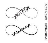 infinity love sisters vector... | Shutterstock .eps vector #1369711679