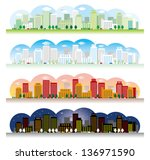 landscape of the city | Shutterstock .eps vector #136971590