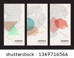 a set of minimalistic templates ... | Shutterstock .eps vector #1369716566