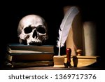 drama or theater and literature ... | Shutterstock . vector #1369717376