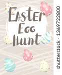 easter egg hunt. banner with... | Shutterstock .eps vector #1369722800