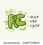 recycling concept with 3r text  ... | Shutterstock .eps vector #1369724819